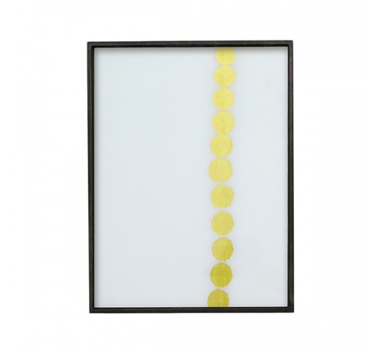 Ethnicraft - Dotted Line - Glass Tray - Rectangle/Small - 46/36/4