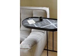 Slate Linear Squares Oblong Tray